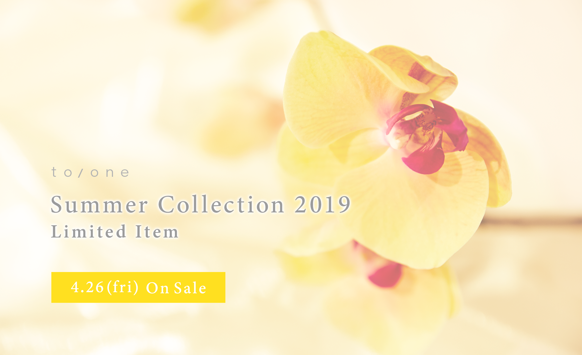 to/one Summer Collection 2019 Limited item 4.26(fri) On Sale
