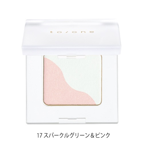 【to/one】ペタル アイシャドウ<全27色>(17:スパークルグリーン&ピンク - 17:Sparkle Green & Pink)