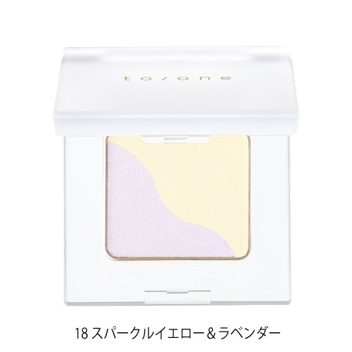 【to/one】ペタル アイシャドウ<全30色>(18:スパークルイエロー&ラベンダー - 18:Sparkle Yellow & Lavender)